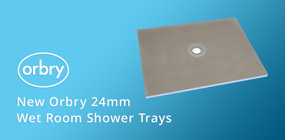 New Orbry 24mm Wet Room Shower Trays